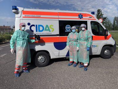 #noicisiamo: i trasporti sanitari di CIDAS non si sono mai fermati