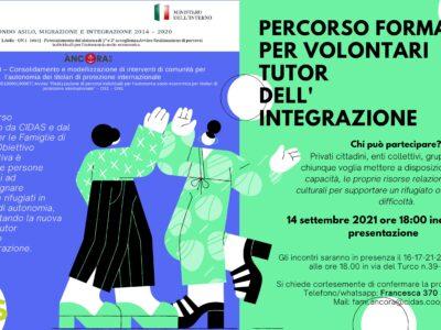 Percorso formativo per volontari tutor dell'integrazione, oggi la presentazione