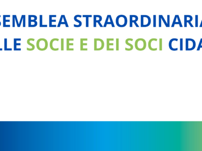 Assemblea Straordinaria dei Soci di CIDAS mercoledì 20 ottobre ore 18.00